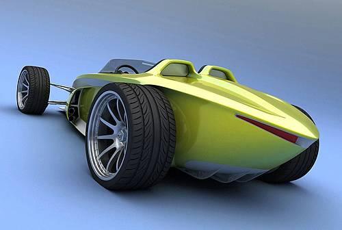 双人敞篷电动概念车 百公里加速3.8秒 高清图片