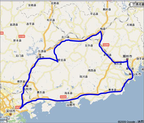 广东省汕头地图